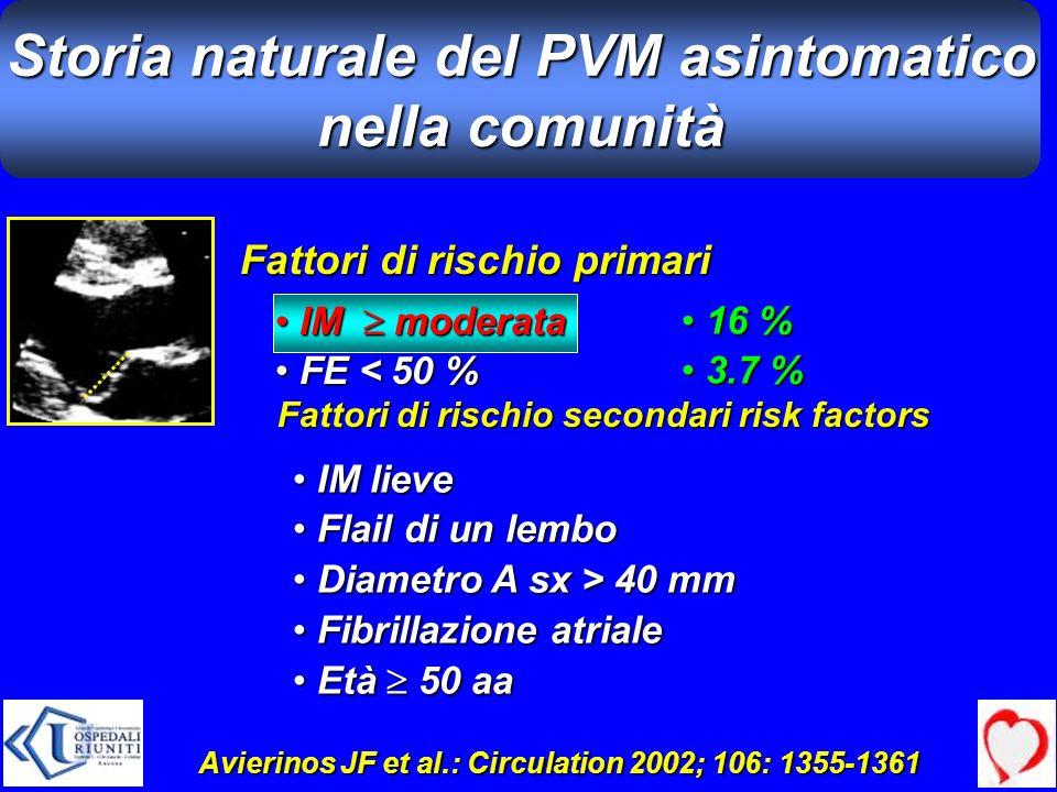 Storia naturale del PVM asintomatico