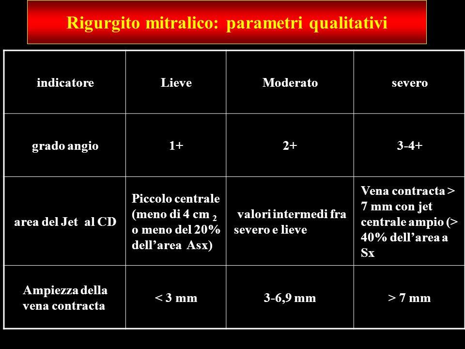 Rigurgito mitralico: parametri qualitativi