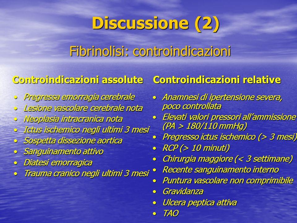 Fibrinolisi: controindicazioni
