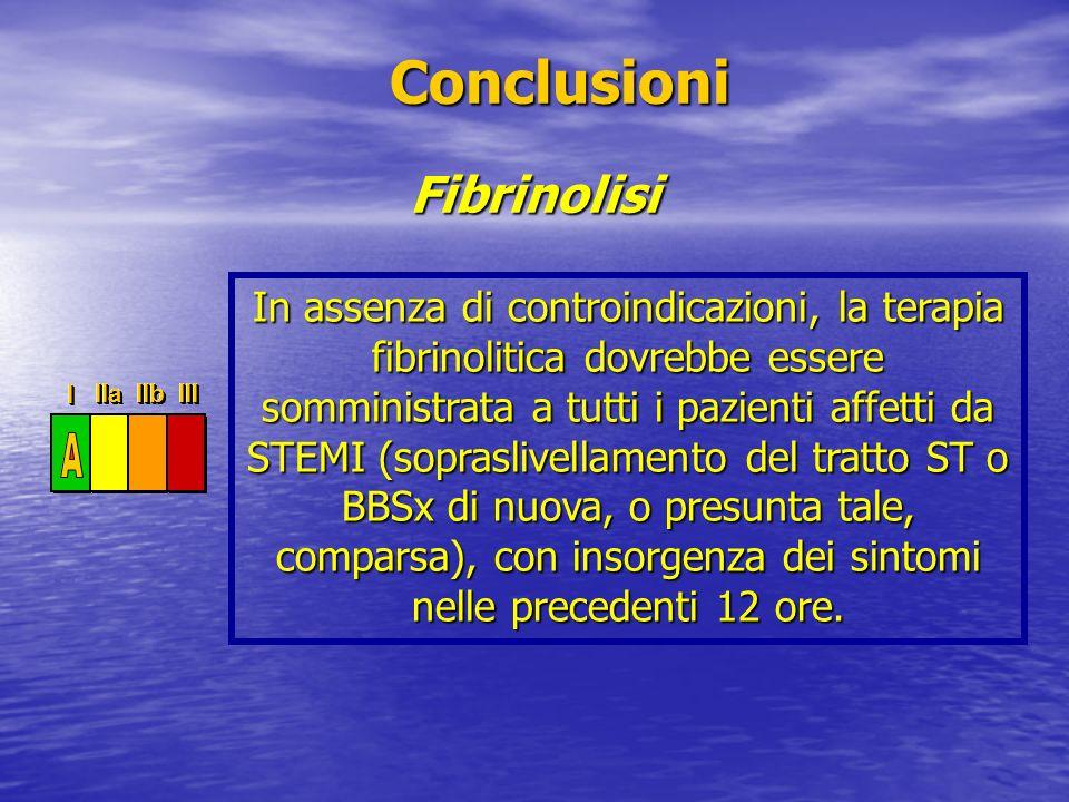 Conclusioni Fibrinolisi
