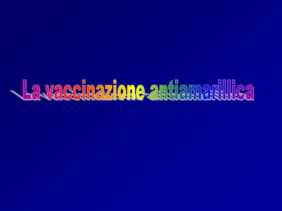 La vaccinazione antiamarillica
