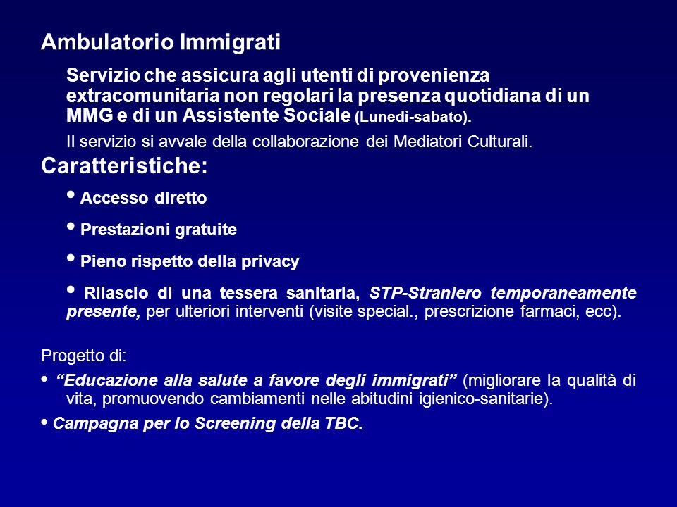 Ambulatorio Immigrati