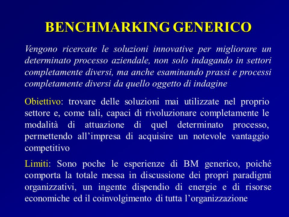 BENCHMARKING GENERICO