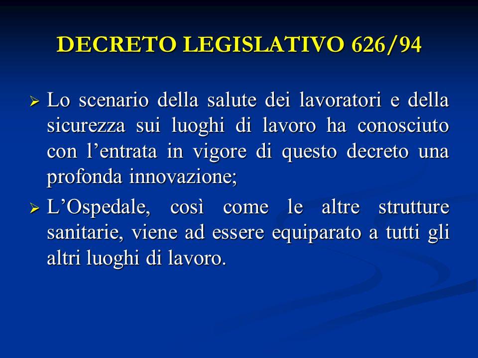 DECRETO LEGISLATIVO 626/94