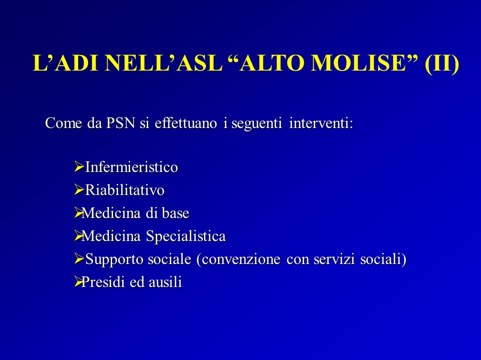 L'ADI NELL'ASL ALTO MOLISE (II)
