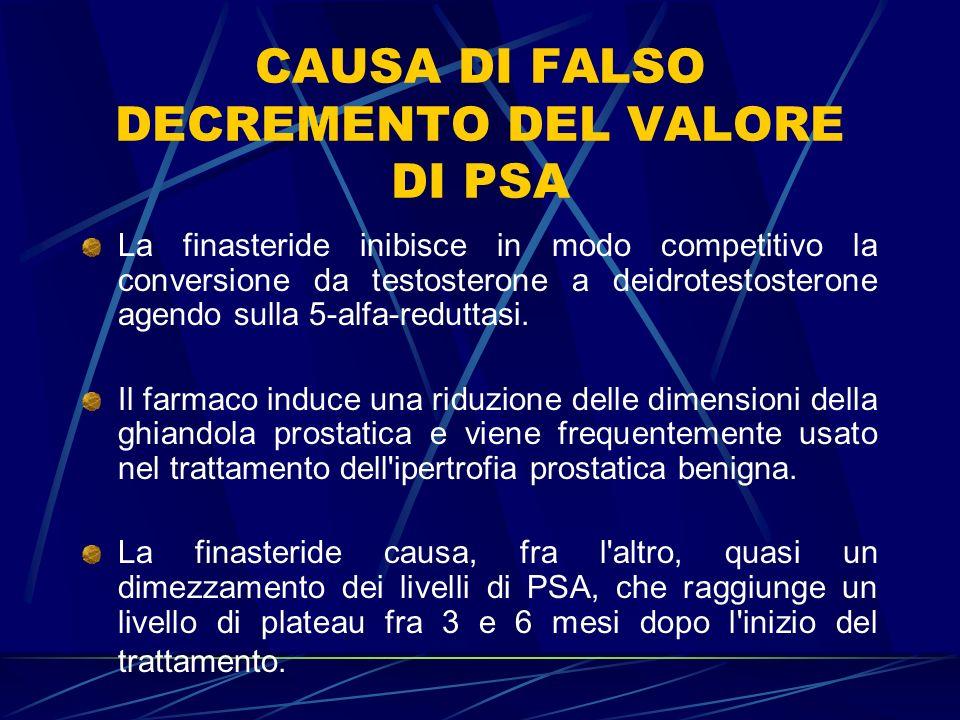 CAUSA DI FALSO DECREMENTO DEL VALORE DI PSA