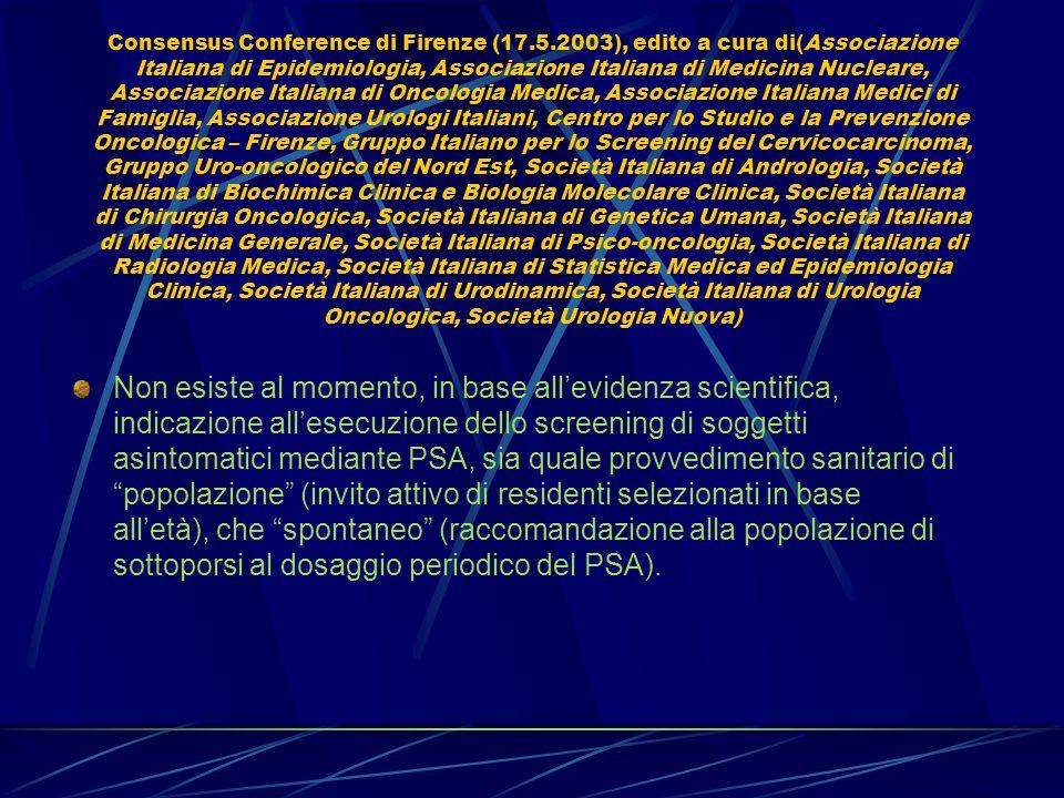 Consensus Conference di Firenze (17. 5