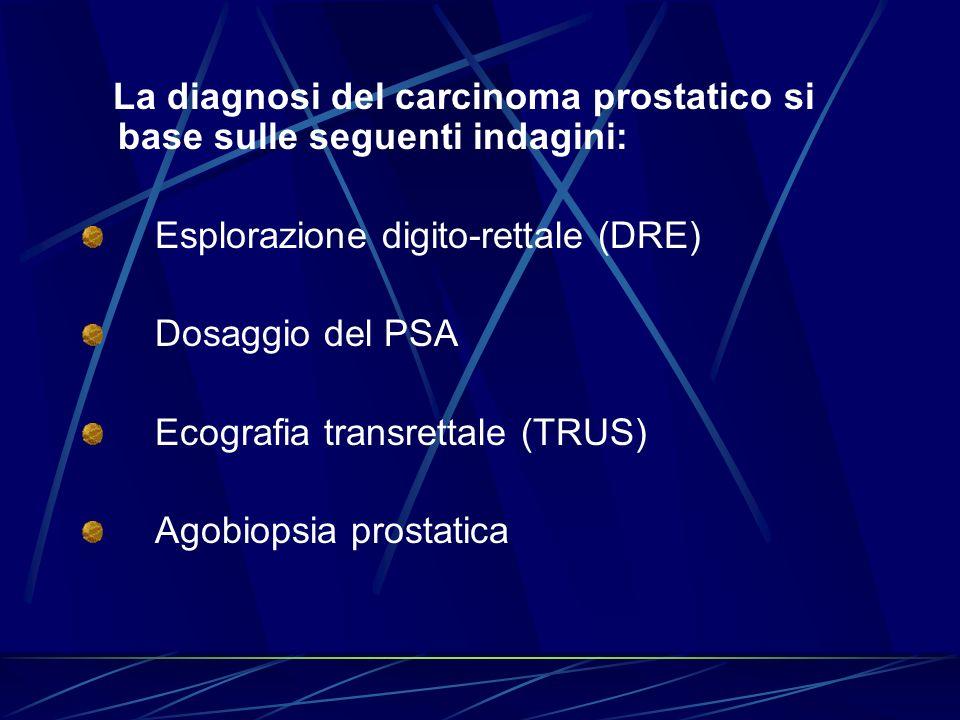 La diagnosi del carcinoma prostatico si base sulle seguenti indagini: