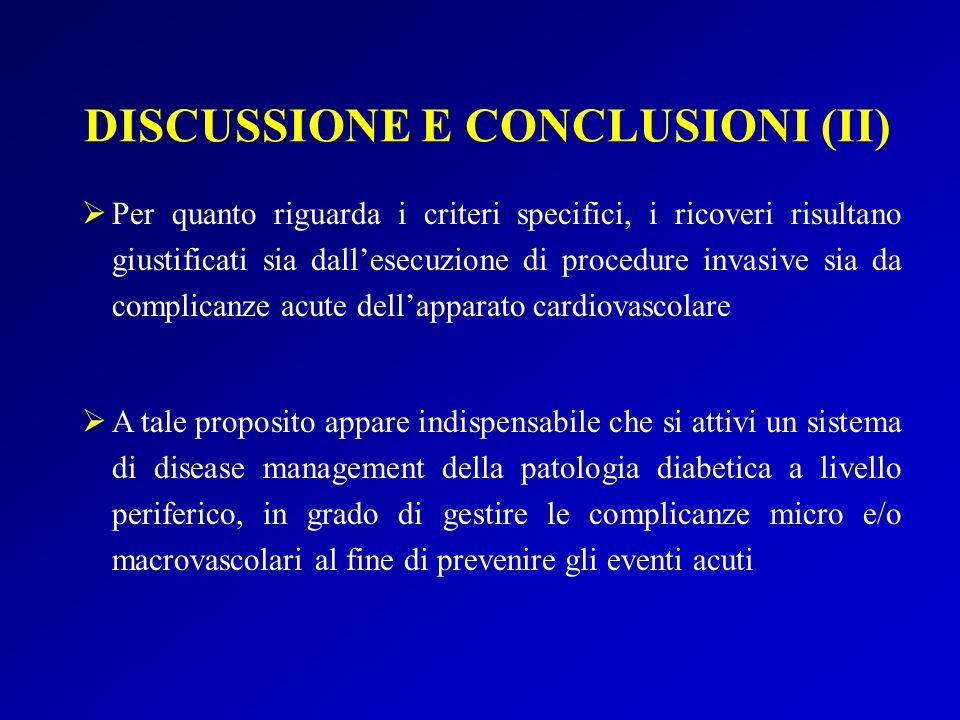 DISCUSSIONE E CONCLUSIONI (II)