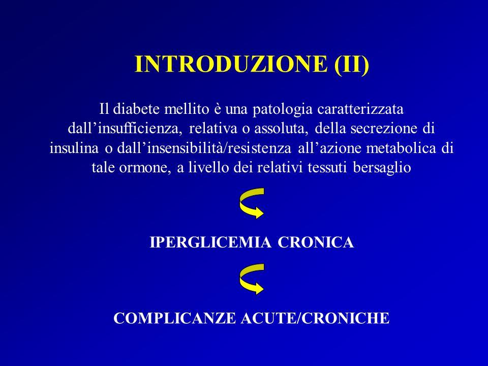 COMPLICANZE ACUTE/CRONICHE