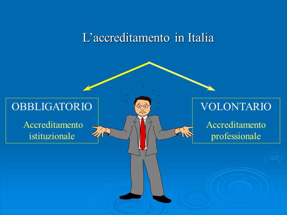 L'accreditamento in Italia
