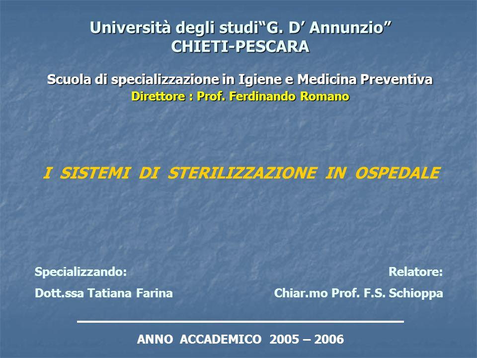 Università degli studi G. D' Annunzio CHIETI-PESCARA