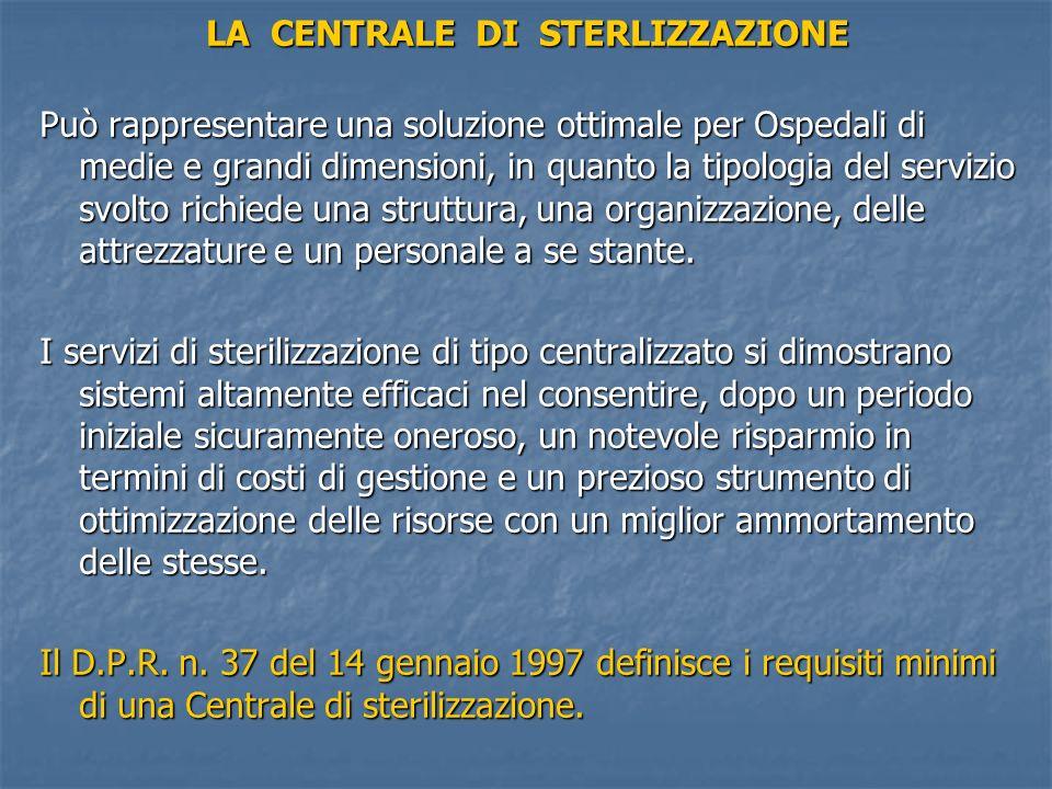 LA CENTRALE DI STERLIZZAZIONE