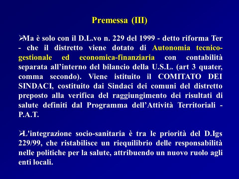Premessa (III)