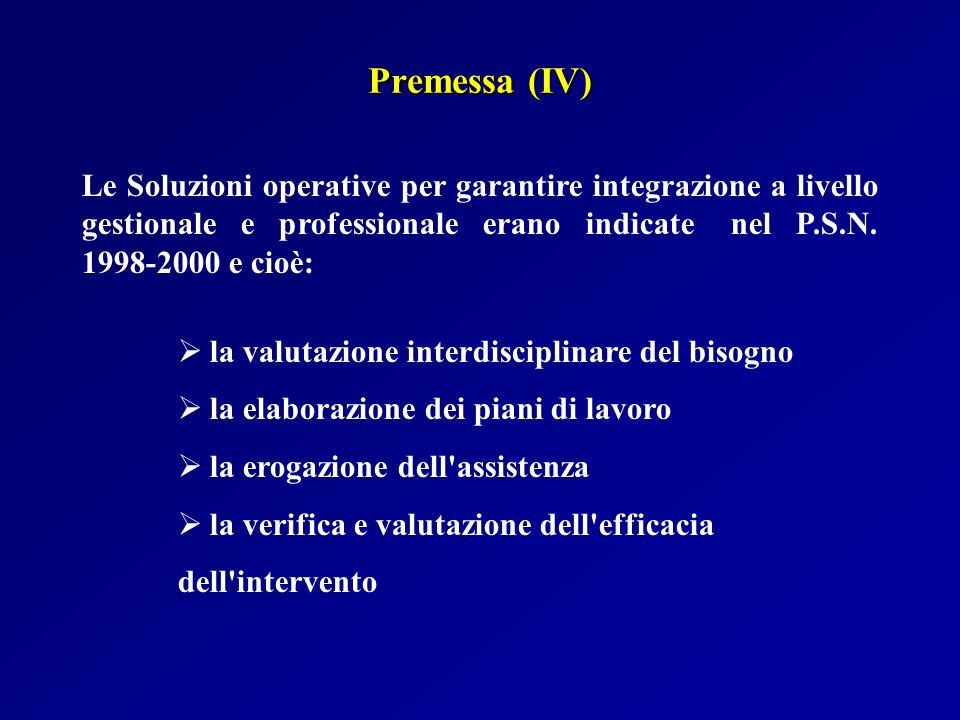 Premessa (IV)