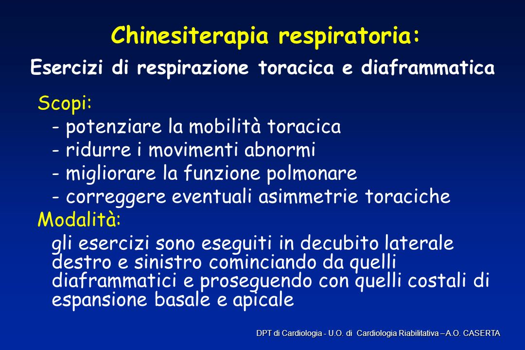 Chinesiterapia respiratoria:
