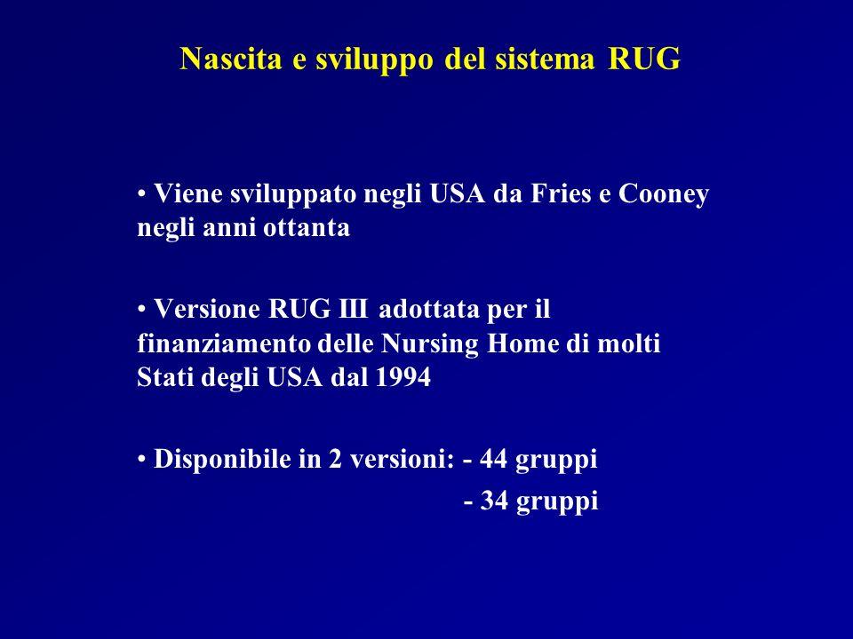 Nascita e sviluppo del sistema RUG