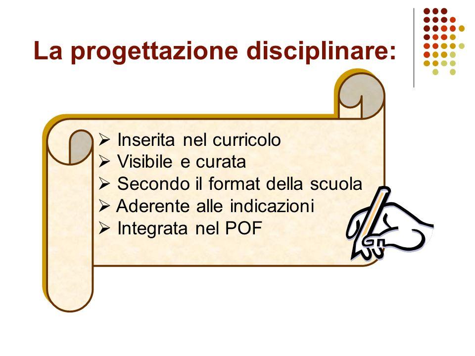 La progettazione disciplinare: