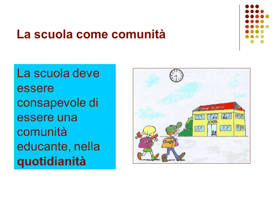 La scuola come comunità