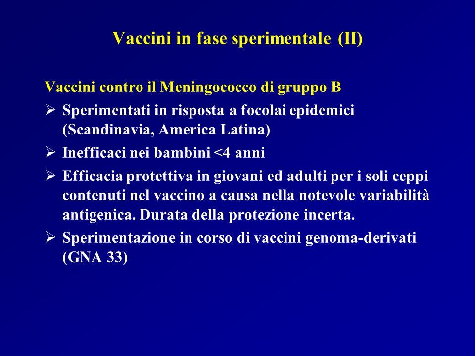 Vaccini in fase sperimentale (II)