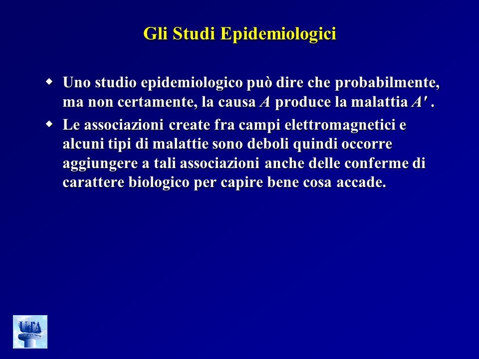 Gli Studi Epidemiologici