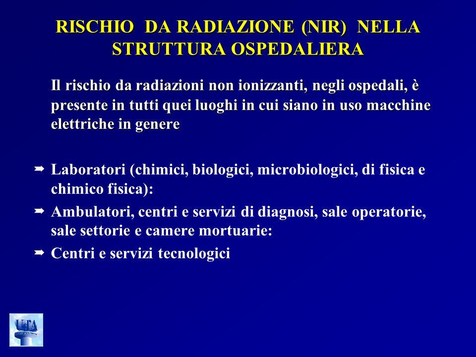 RISCHIO DA RADIAZIONE (NIR) NELLA STRUTTURA OSPEDALIERA