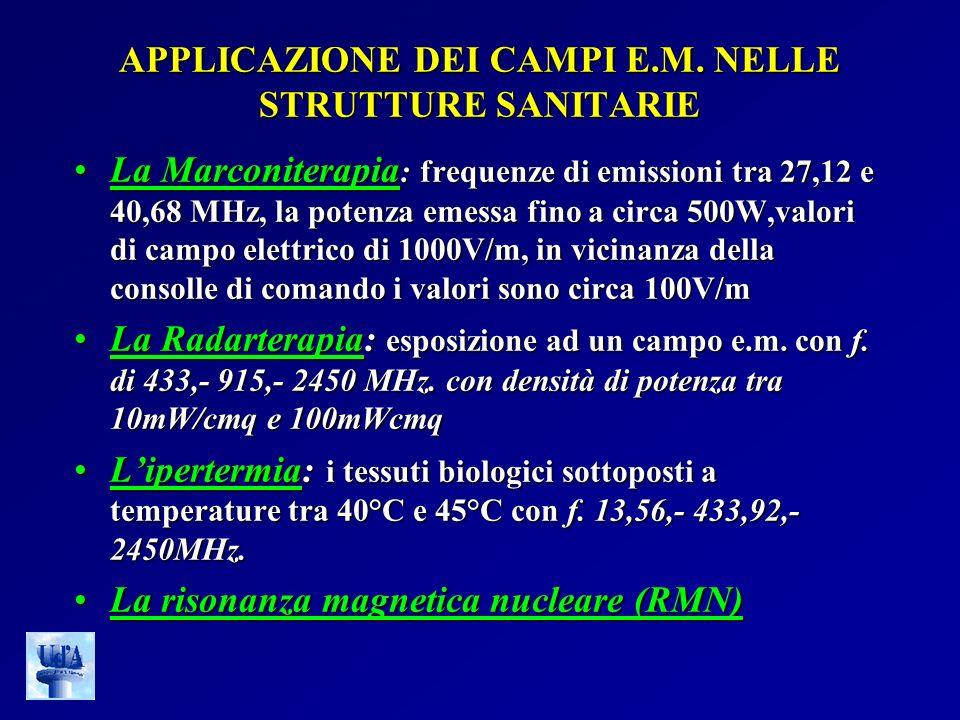 APPLICAZIONE DEI CAMPI E.M. NELLE STRUTTURE SANITARIE