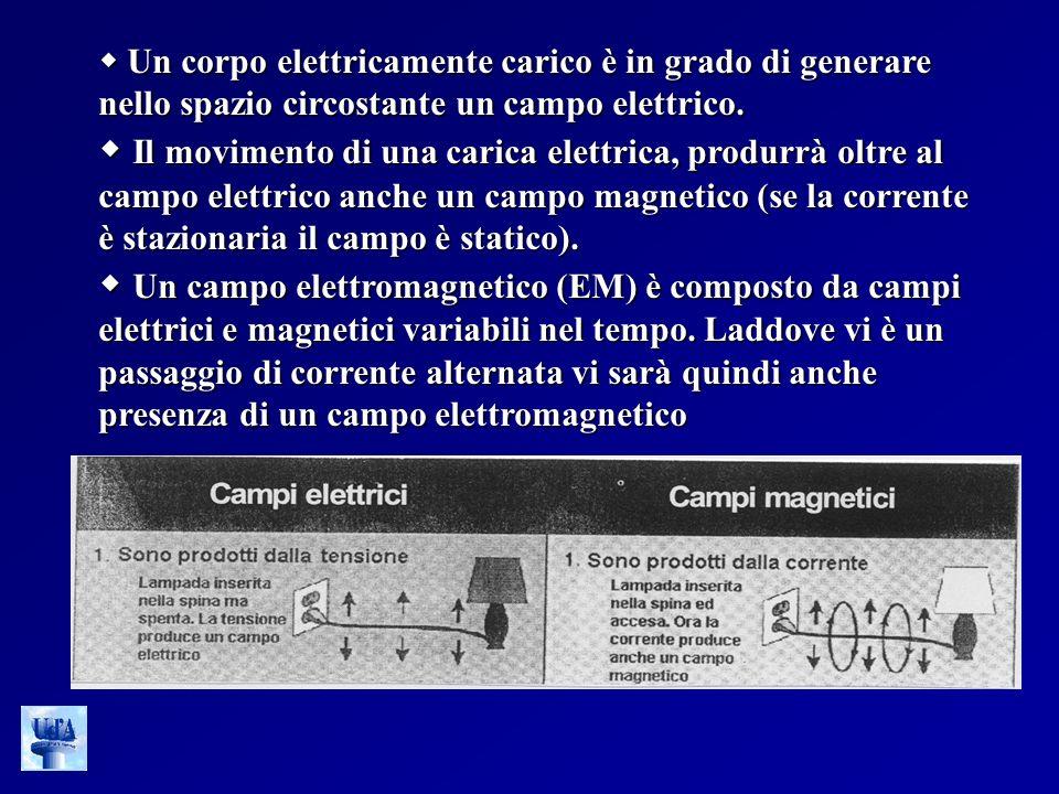  Un corpo elettricamente carico è in grado di generare nello spazio circostante un campo elettrico.