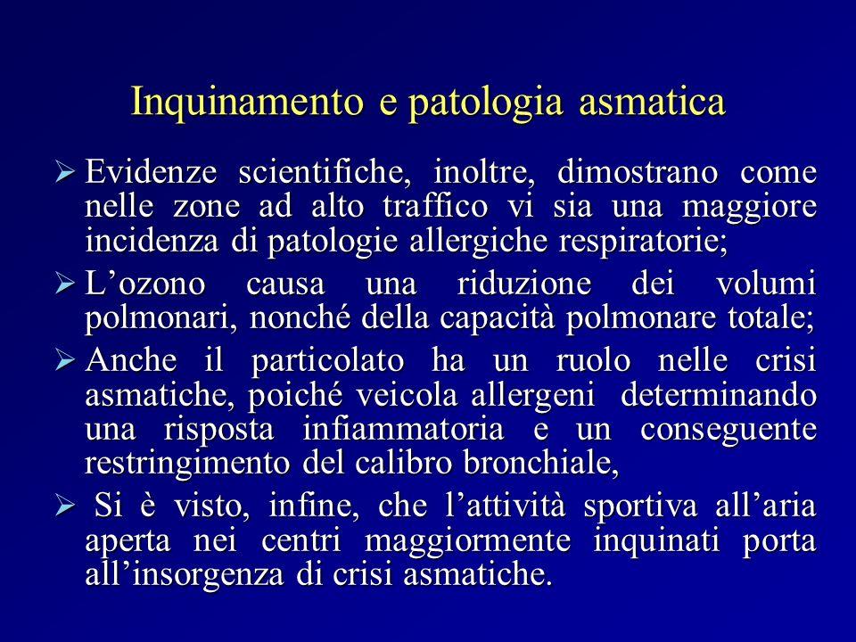 Inquinamento e patologia asmatica