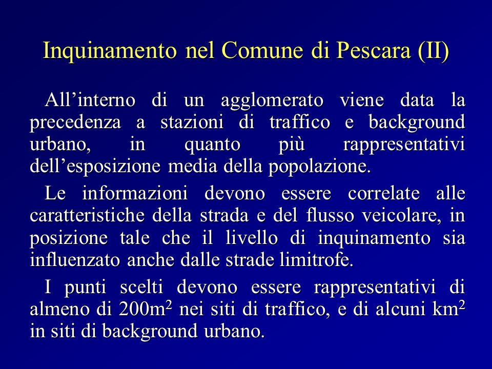 Inquinamento nel Comune di Pescara (II)