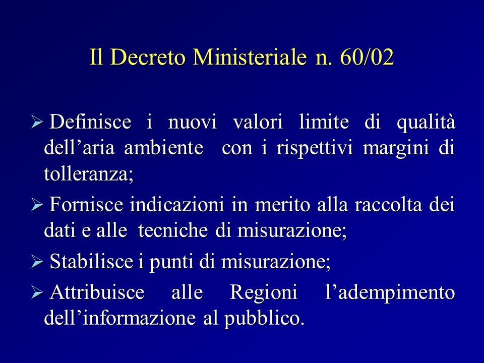 Il Decreto Ministeriale n. 60/02