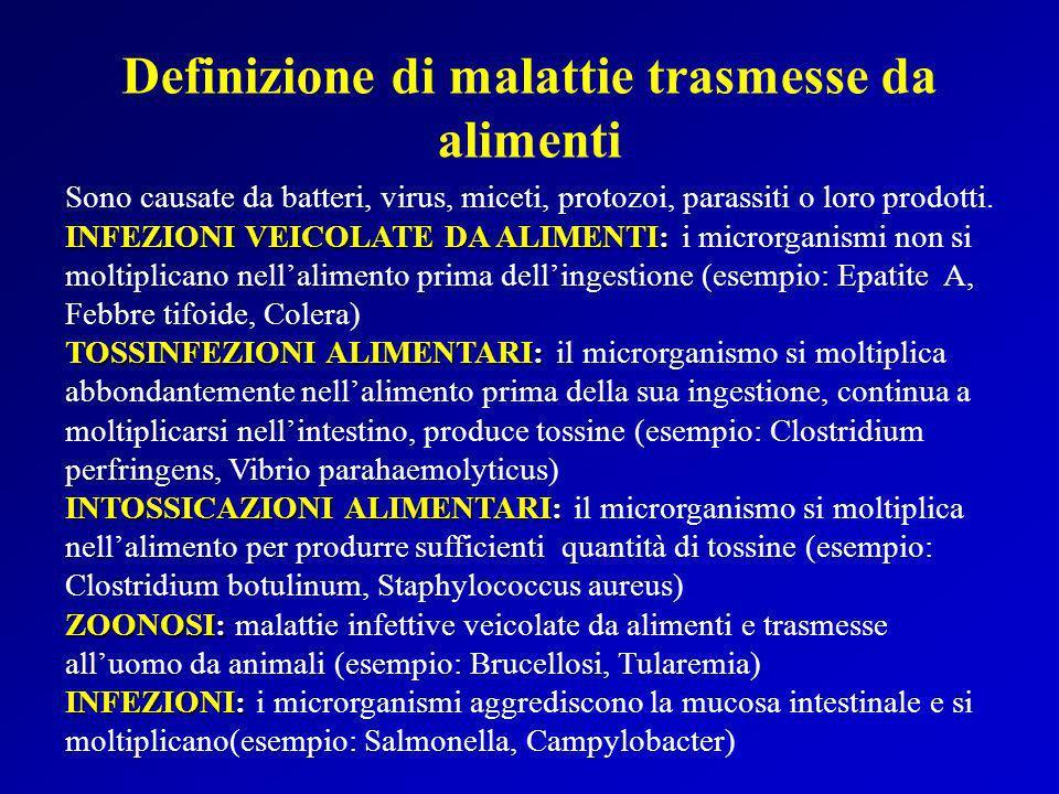 Definizione di malattie trasmesse da alimenti