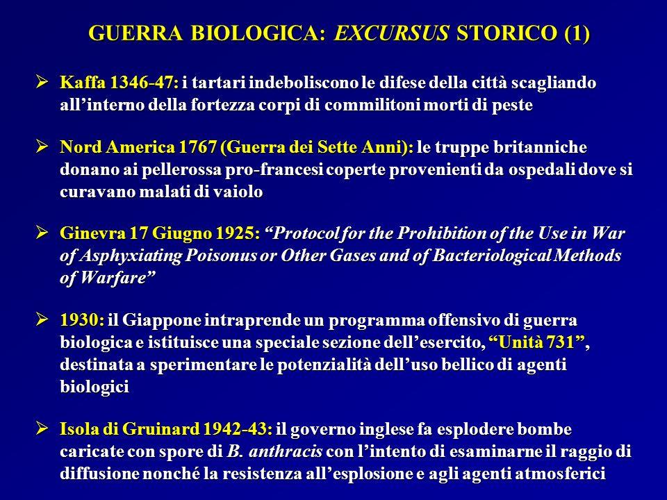 GUERRA BIOLOGICA: EXCURSUS STORICO (1)