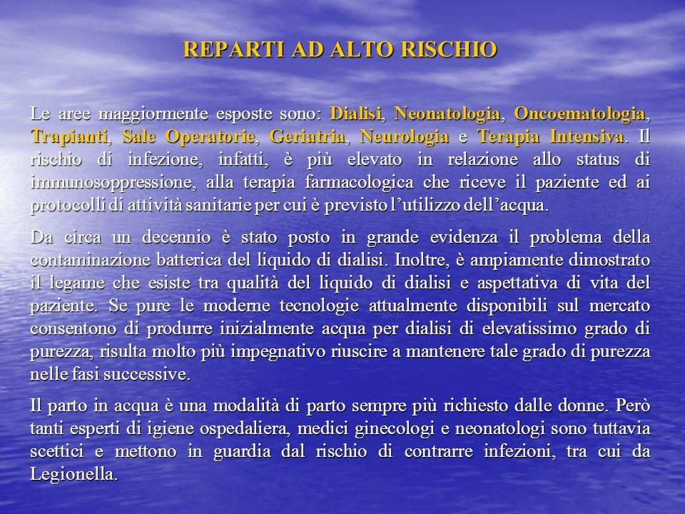 REPARTI AD ALTO RISCHIO