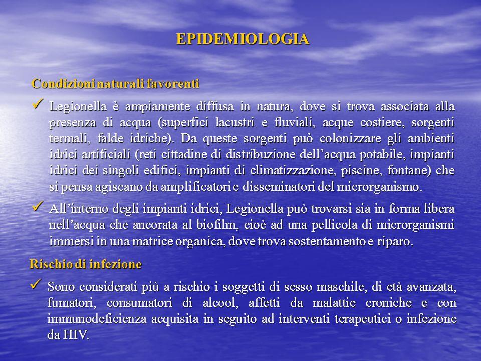 EPIDEMIOLOGIA Condizioni naturali favorenti