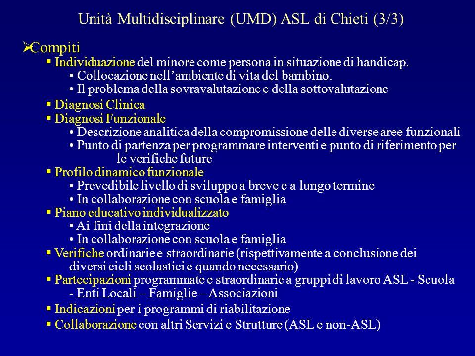 Unità Multidisciplinare (UMD) ASL di Chieti (3/3)