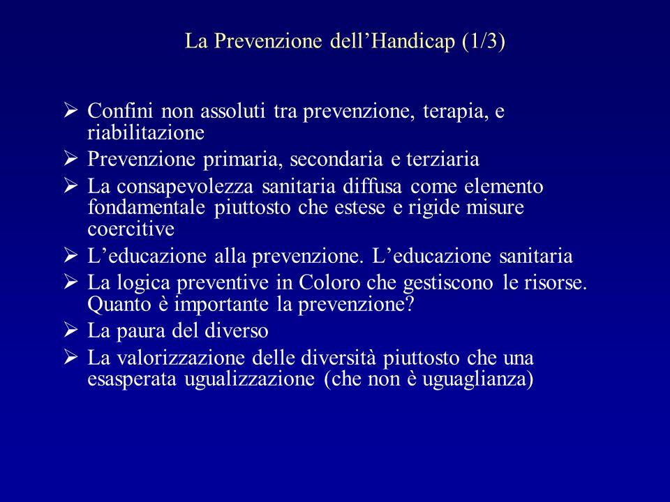 La Prevenzione dell'Handicap (1/3)