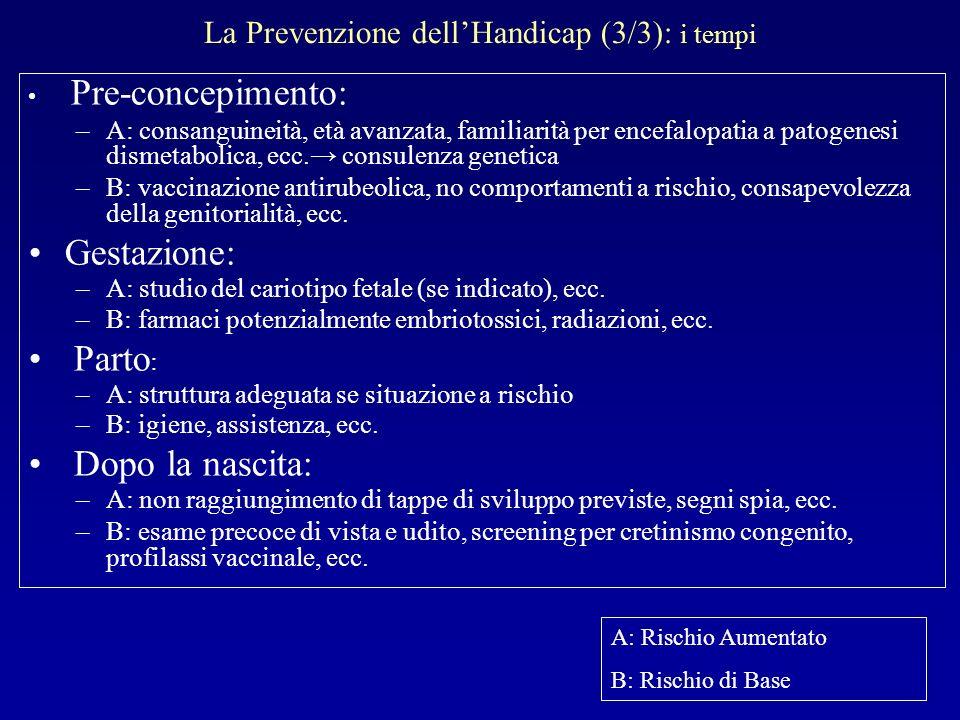 La Prevenzione dell'Handicap (3/3): i tempi