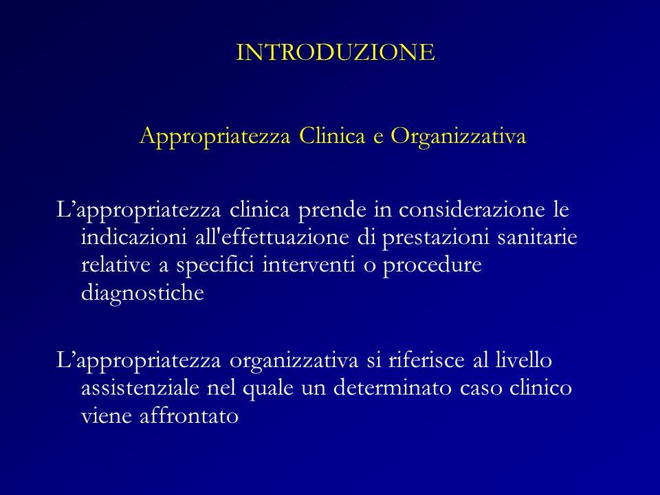 Appropriatezza Clinica e Organizzativa