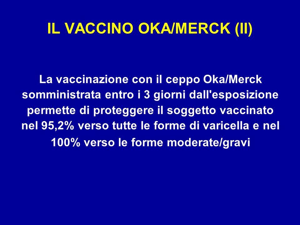 IL VACCINO OKA/MERCK (II)