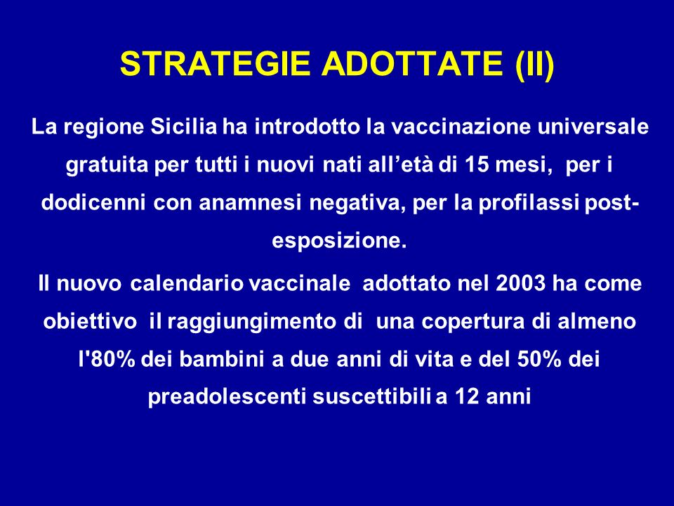 STRATEGIE ADOTTATE (II)