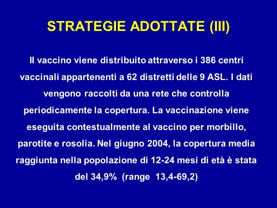 STRATEGIE ADOTTATE (III)