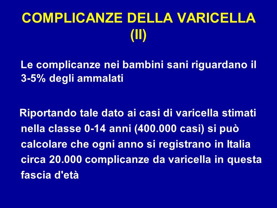 COMPLICANZE DELLA VARICELLA (II)