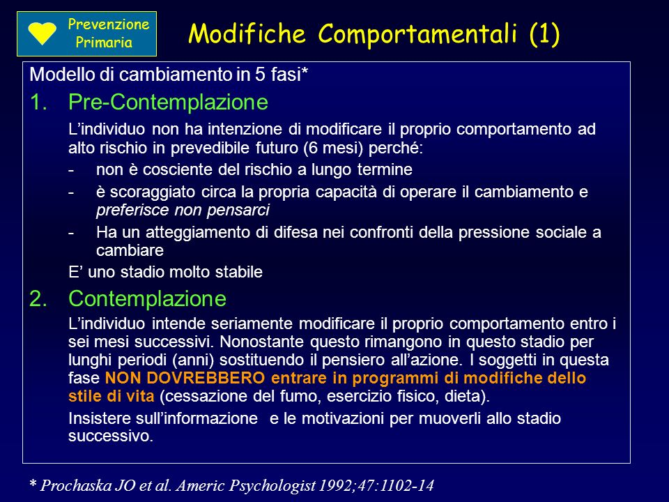 Modifiche Comportamentali (1)