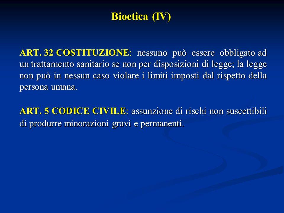 Bioetica (IV)