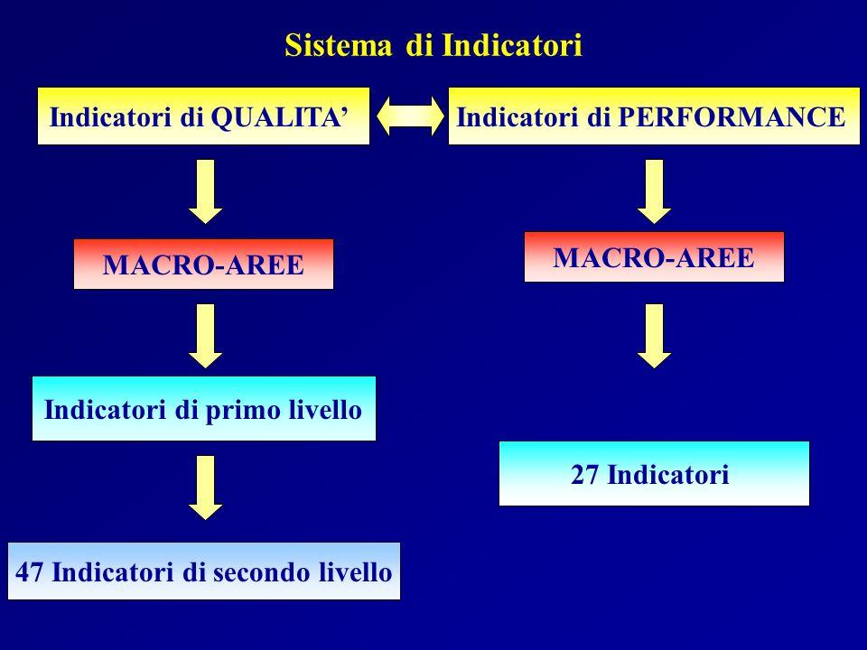 Indicatori di primo livello 47 Indicatori di secondo livello