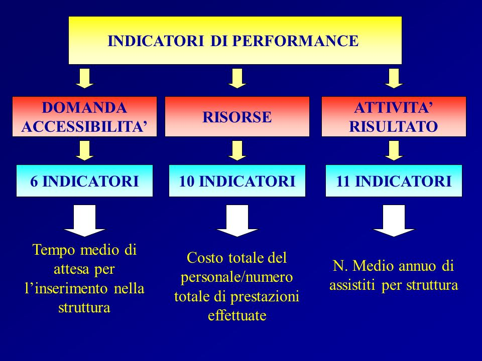 INDICATORI DI PERFORMANCE