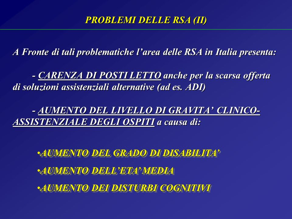 PROBLEMI DELLE RSA (II)