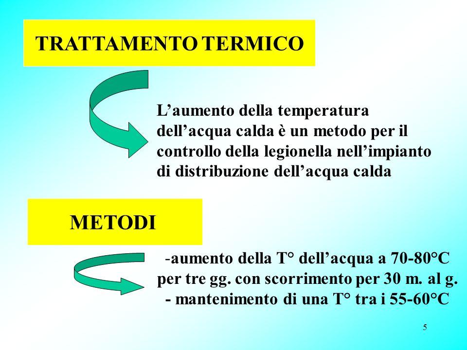 - mantenimento di una T° tra i 55-60°C