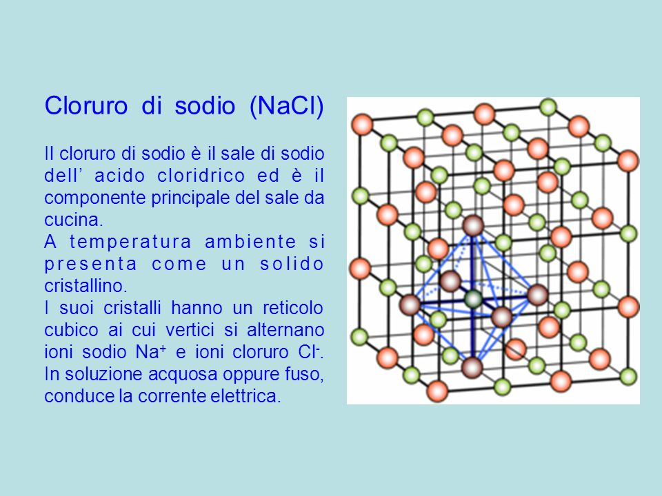 Cloruro di sodio (NaCl)